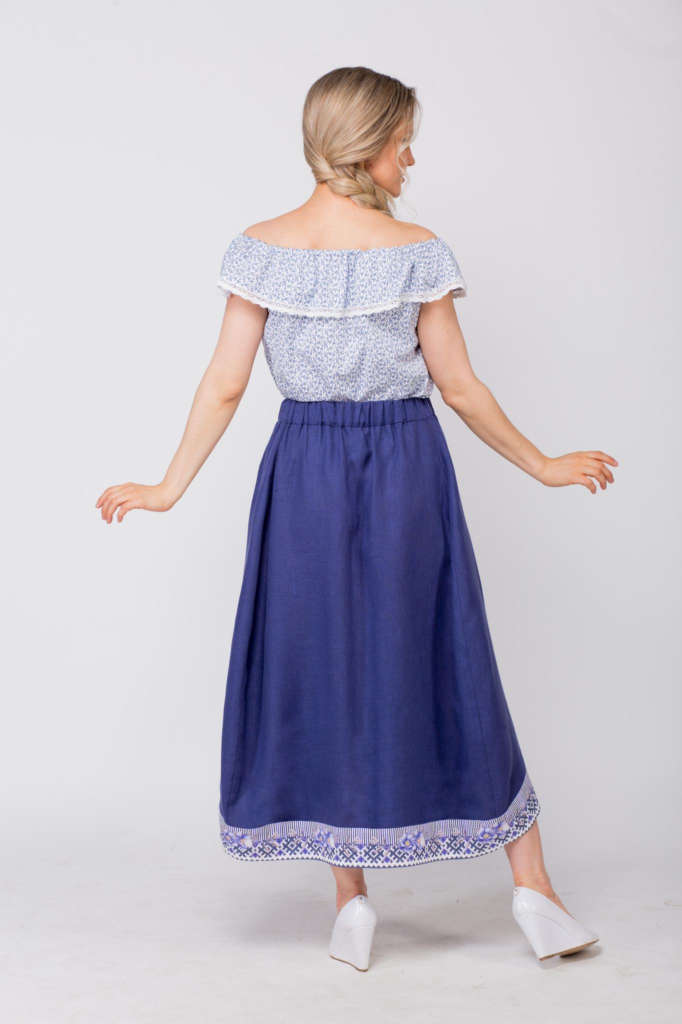 Блуза хлопковая Есения вид сзади