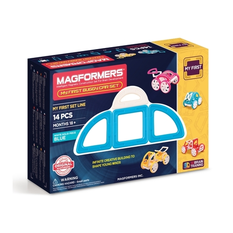 Магнитный конструктор MAGFORMERS 702007 My First Buggy, синий