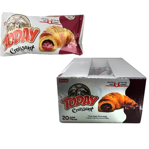 Today Croissant with cherry 45 GR (20х4) Круасан с вишневым соусом 1кор*4бл*20шт,45гр