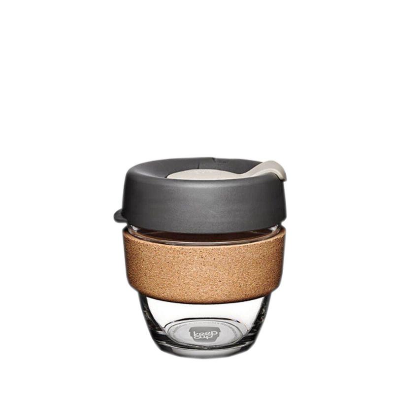 Кружка стеклянная KeepCup Brew - Cork Edition 8oz (225мл) Press