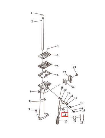Держатель  для лодочного мотора T2,5 SEA-PRO (7-11)
