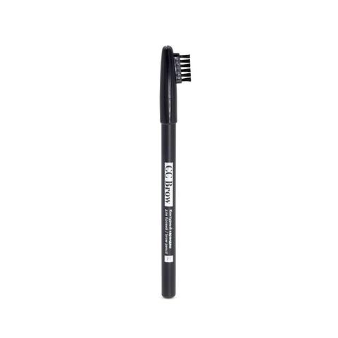 Контурный карандаш для бровей brow pencil СС Brow, цвет 01 (серо-черный)