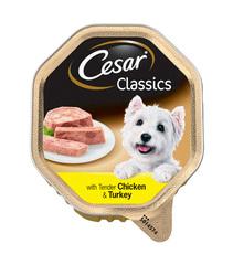 Cesar паштет для собак курица, индейка 150гр