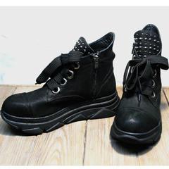Сникерсы ботинки женские весна Rifellini Rovigo 525 Black.