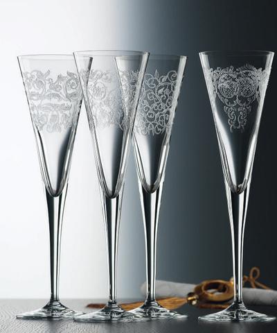 Набор из 4 хрустальных фужеров для шампанского DELIGHT, 165 мл