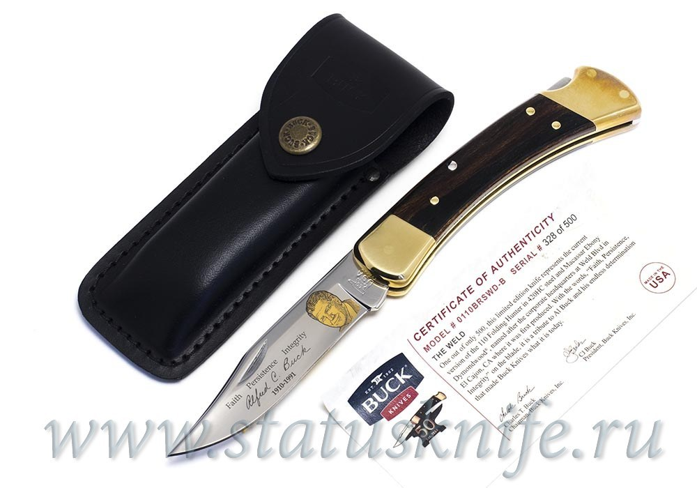 Нож BUCK 110BRSWD-BRK Weld Folding Hunter Limited