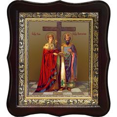 Елена и Константин Святые равноапостольные. Икона на холсте.