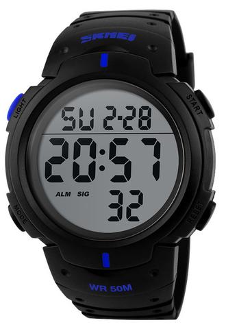 Часы SKMEI 1068 - Черный + Синий