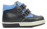 Ботинки для мальчиков Котофей 152134-21 из натуральной кожи на липучке цвет синий. Изображение 1 из 6.