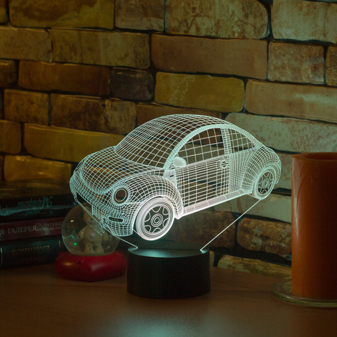 3D лампа Volkswagen Beetle 2010