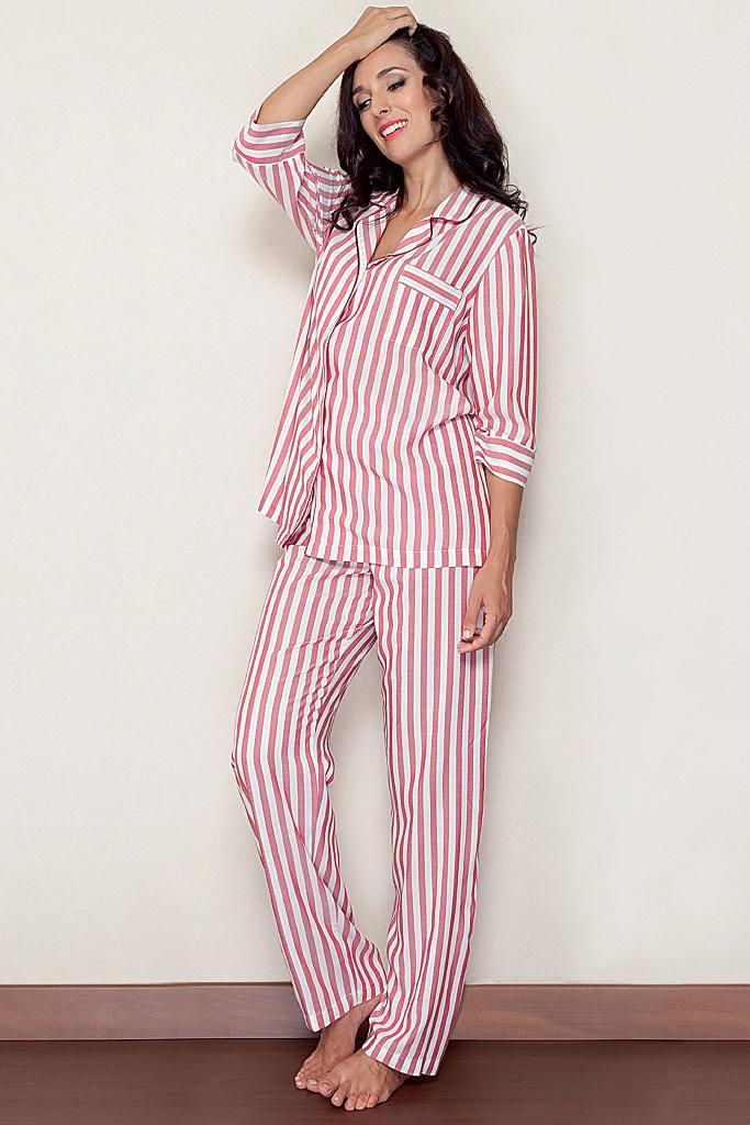 Хлопковая пижама с укороченным рукавом B&B