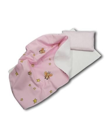 Постель - Розовый. Одежда для кукол, пупсов и мягких игрушек.