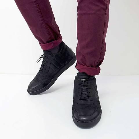 Зимние мужские ботинки с подкладкой из натурального меха