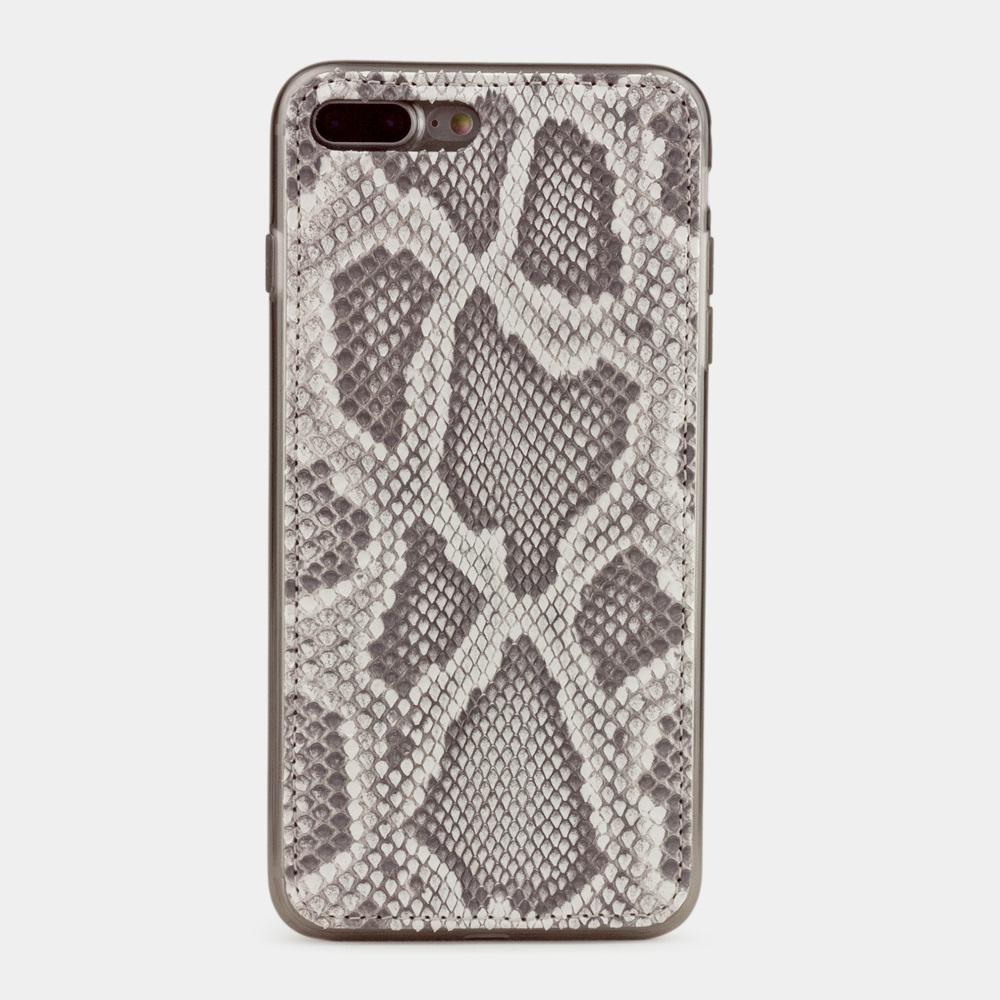 Чехол-накладка для iPhone 8 Plus из натуральной кожи питона, цвета Natur
