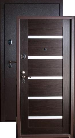 Дверь входная Falko Конструктор М-4, 2 замка, 2 мм  металл, (капучино+венге кантри)