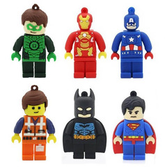 Minifigure Superhero USB 2.0 Flash Memory Drive 16 GB