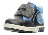 Ботинки для мальчиков Котофей 152134-21 из натуральной кожи на липучке цвет синий. Изображение 3 из 6.