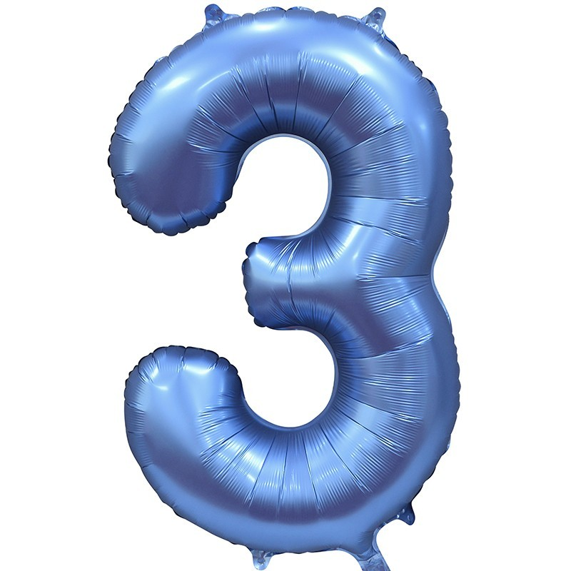 Шары цифры Шар цифра сатин 3 синяя 3c.jpg