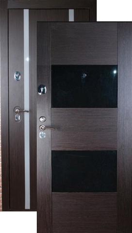 Дверь входная Falko Конструктор М-5, 2 замка, 2 мм  металл, (венге кантри+венге кантри)