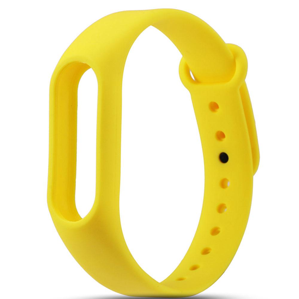 Жёлтый вариант цвета сменного цветного браслета на Smart Mi Band 2