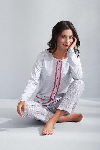 94ecc9954016e Пижама домашняя с брючками Luna 508 - - цвет серый
