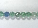 Бусина из флюорита зеленого, фигурная, шар граненый 10мм