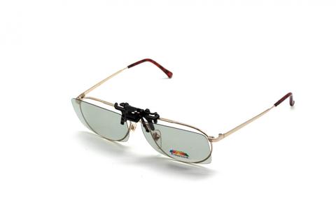 Клипон на очки Azuza с поляризацией Polarized зеркально-серые 50%