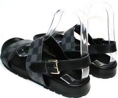Лучшие мужские сандалии Louis Vuitton 1008 01Blak.