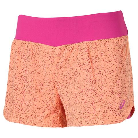 ASICS WOVEN 2IN1 женские шорты оранжевые