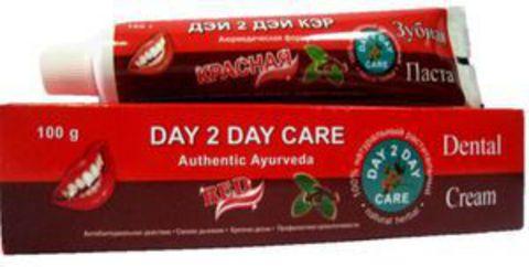 Аюрведическая зубная паста Красная, 100 г D2D