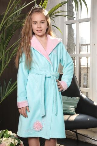 PRINCESS (бирюза) детский халат для девочки  Five Wien Турция