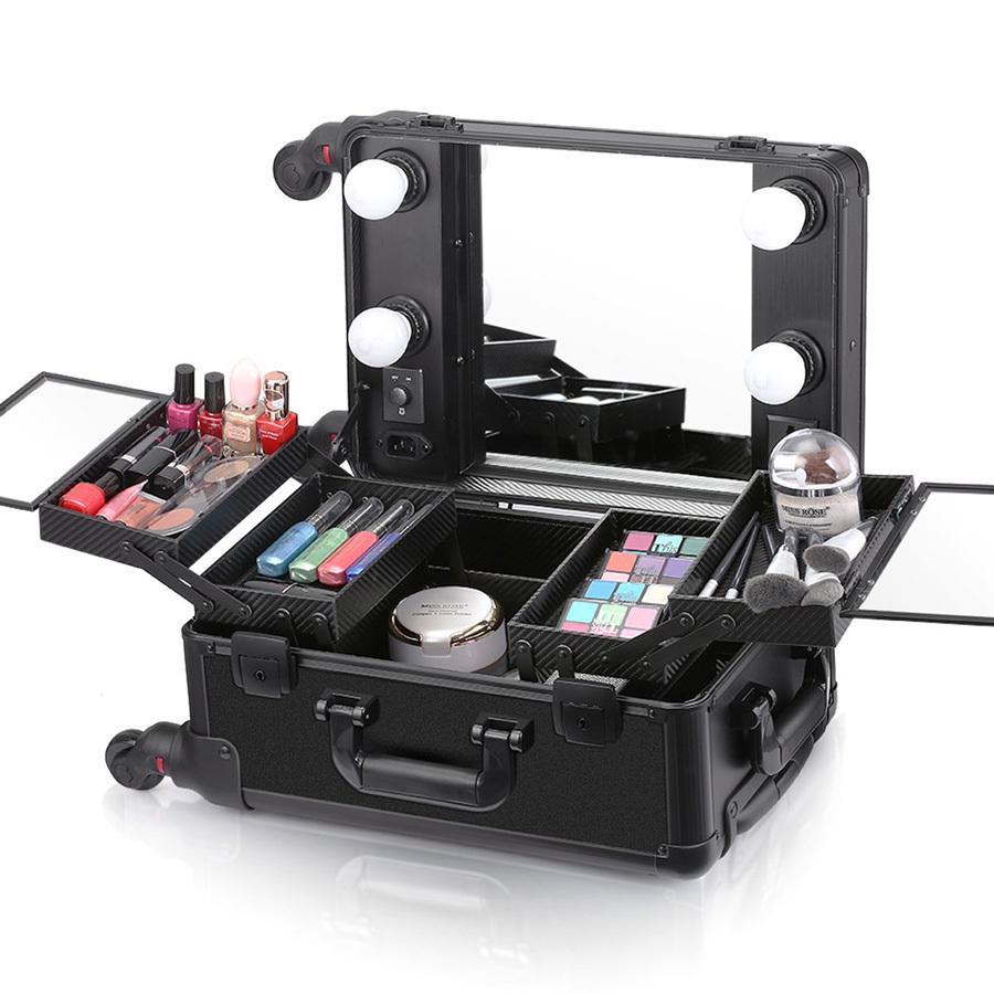 Мобильные студии визажиста Бьюти кейс визажиста на колесиках (мобильная студия) LC006 Black Бьюти-кейс-визажиста-LC-006-black-1.jpg