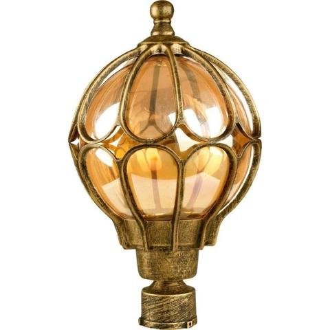 Светильник садово-парковый, 60W 230V E27 черное золото, IP44, PL3803 (Feron)