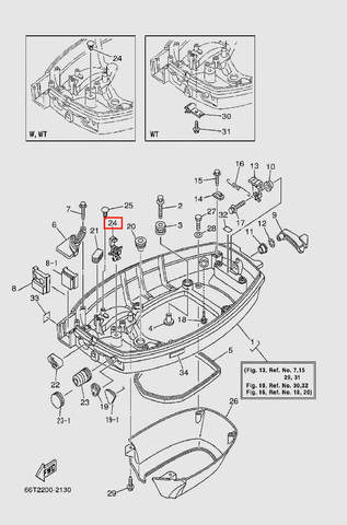 Держатель для лодочного мотора T40 Sea-PRO (13-24)