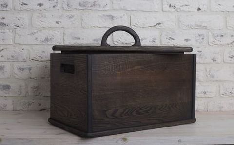 Dark Ashwood Box for Food Products and Bread