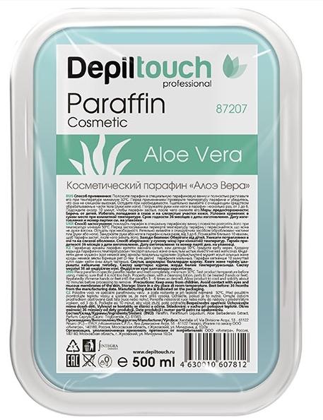 Косметический парафин Алоэ вера в ванночке 500 гр. (Depiltouch)