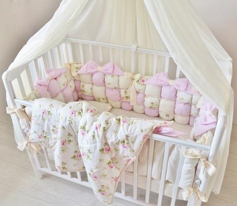 Комплект в кроватку Шебби, на 4 стороны кроватки