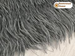 Перья на тесьме серые 8-10 см (отрез 18 см)