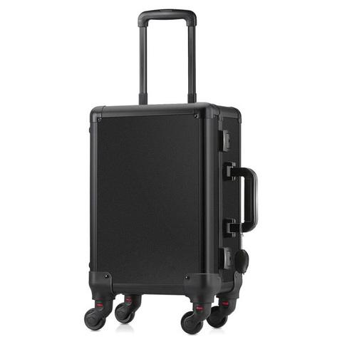 Бьюти кейс визажиста на колесиках (мобильная студия) LC006 Black