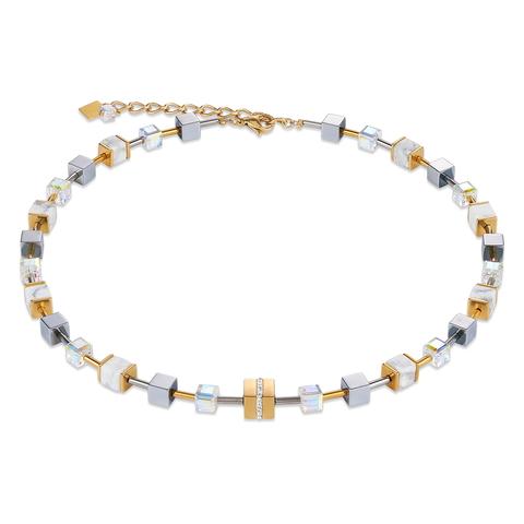 Колье Coeur de Lion 4965/10-1614 цвет золотой, серый, белый