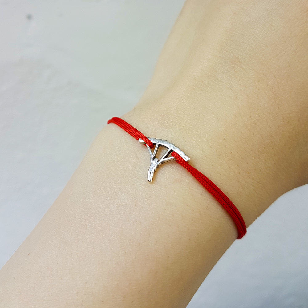 Parachutist Bracelet, sterling silver