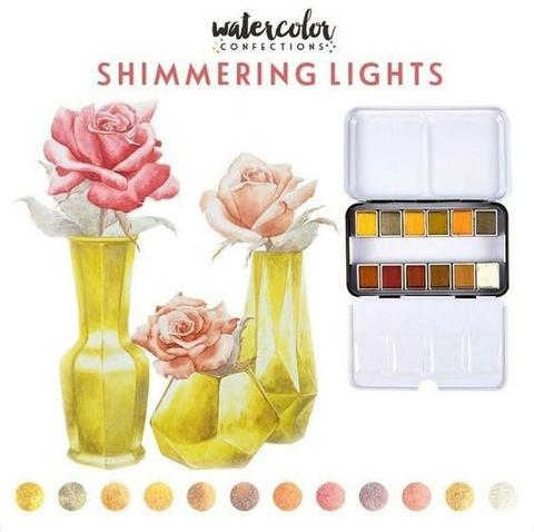 Акварельные краски Prima Marketing Watercolor Confections Watercolor Pans 12шт. -Shimmering Lights