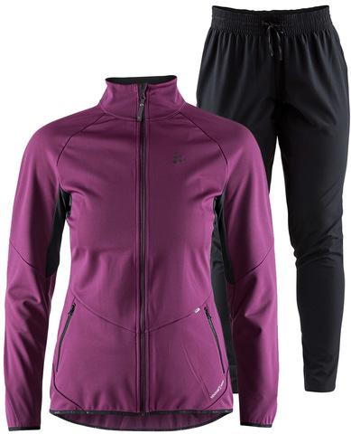 Элитный костюм для бега Craft Glide XC Eaze Violet-Black женский