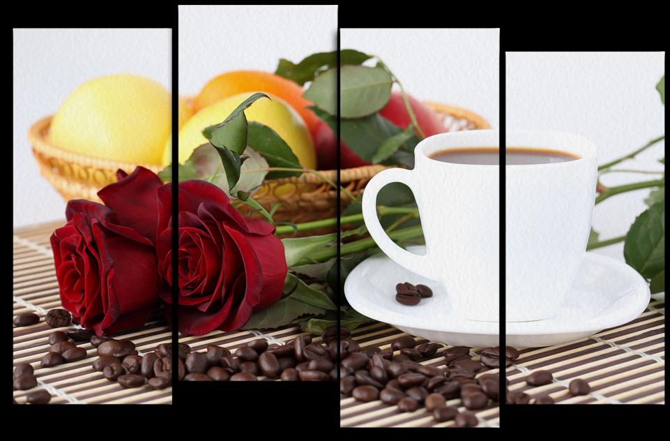 """Модульные картины Модульная картина """"Кофе в постель"""" М3027.PNG"""