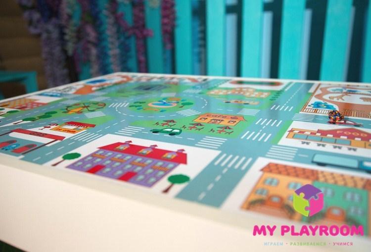 Игровое поле ГОРОД для домашней песочницы myplayroom