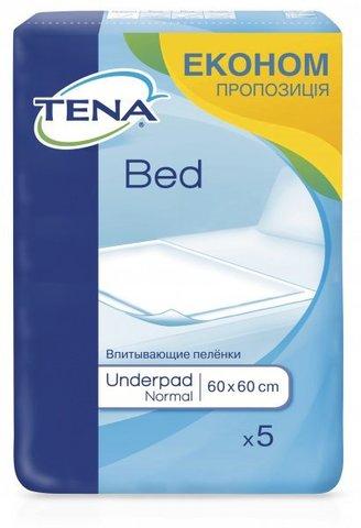 Пеленки одноразовые впитывающие Tena Bed Normal, 60х60 см, 1уп/5шт. Фото1