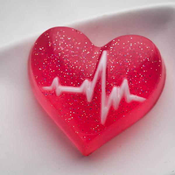Форма для мыла Кардиограмма (сердце)