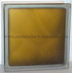 Стеклоблок матовый бронза Vitrablok 19x19x8 окрашенный изнутри