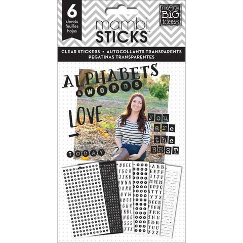 Стикеры ацетатные -на прозрачном пластике Me & My Big Ideas Pocket Pages Clear Stickers - Alpha Words - You Are The Best