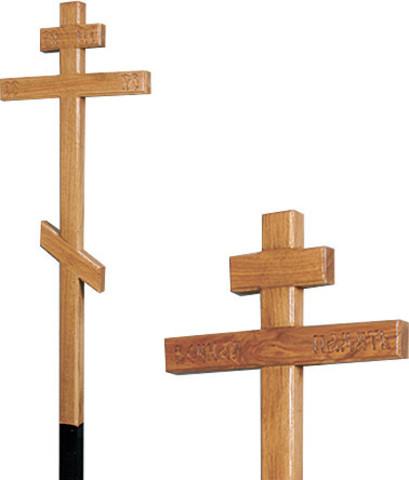 Крест намогильный дубовый